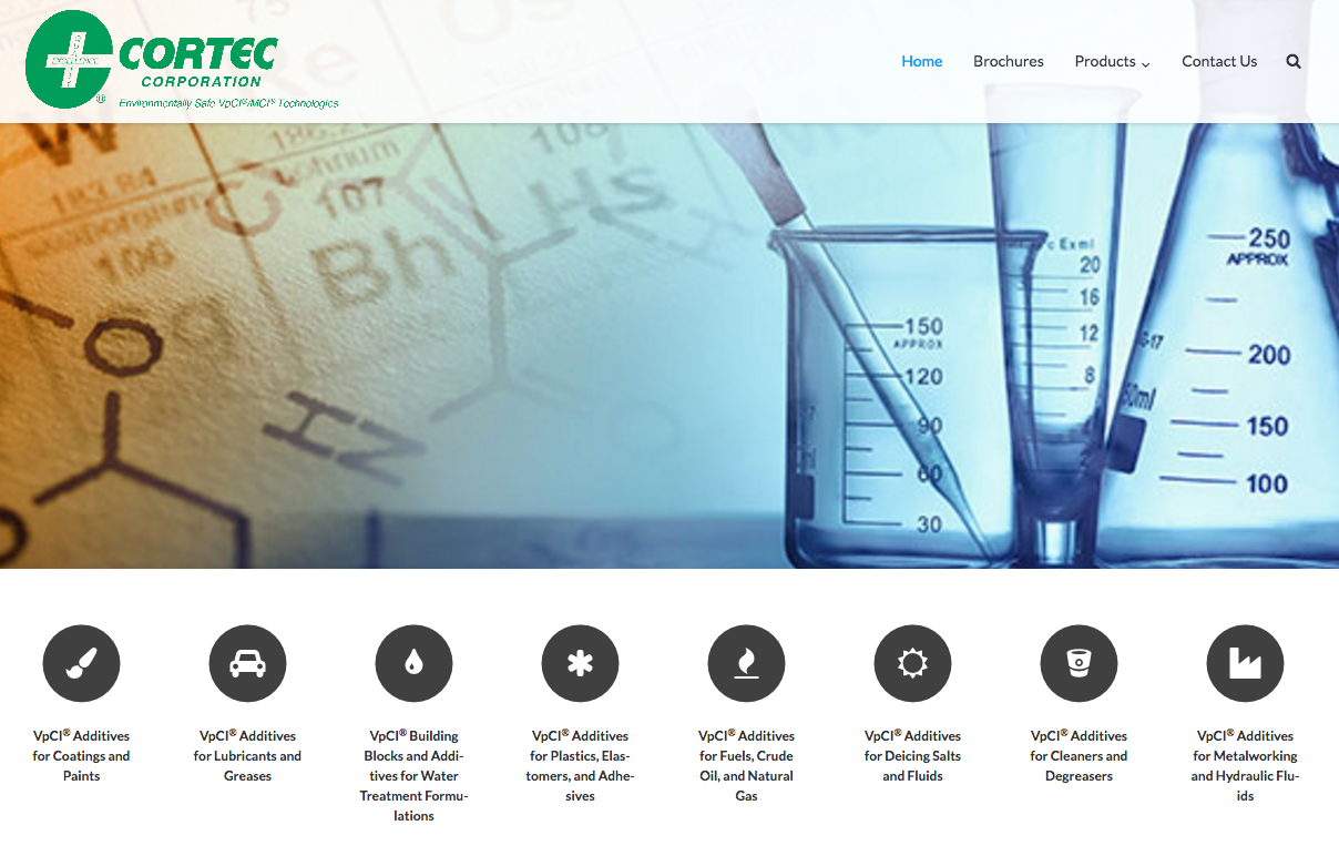 Cortec Additives Home page